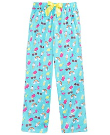 Max & Olivia Little & Big Girls Rainbow-Print Pajama Pants, Created for Macy's
