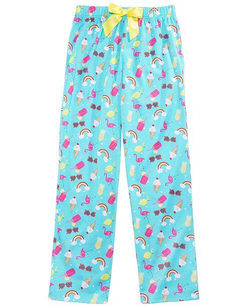 Max & Olivia Little & Big Girls Rainbow-Print Pajama Pants, Created for Macy's