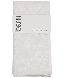 Men's Tonal Floral Pocket Square, Created fro Macy's