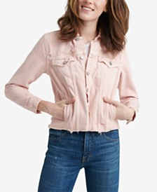 Lucky Brand Tomboy Cotton Trucker Jacket