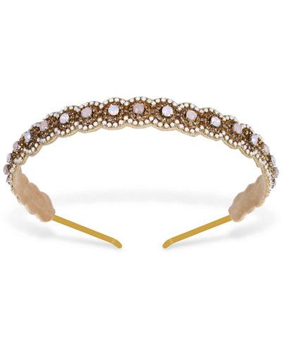 Deepa Gold-Tone Crystal & Stone Headband