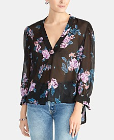 RACHEL Rachel Roy Sheer Tie-Cuff Top