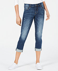 Kut from the Kloth Amy Roll-Crop Straight Jeans