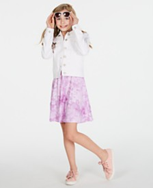 Epic Threads Big Girls Denim Jacket & Tie-Dyed Dress, Created for Macy's