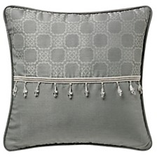 """Waterford Dimitrios Charcoal 16"""" X 16"""" Square Collection Decorative Pillow"""