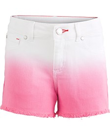 Tommy Hilfiger Big Girls Dip-Dyed Denim Shorts