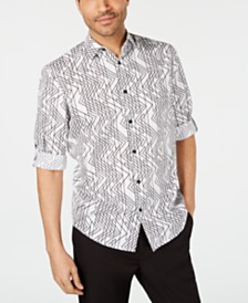 Alfani Men's Striped Shirt, Created for Macy's