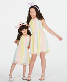 Epic Threads Sisters Striped Chiffon Dress, Created for Macy's