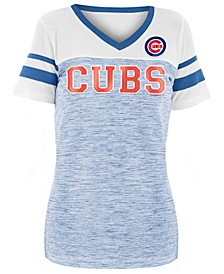 Women's Chicago Cubs Space Dye Sequin T-Shirt