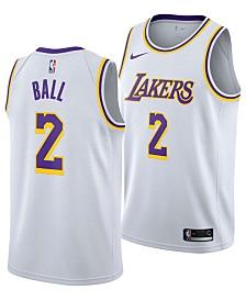 Nike Men's Lonzo Ball Los Angeles Lakers Association Swingman Jersey