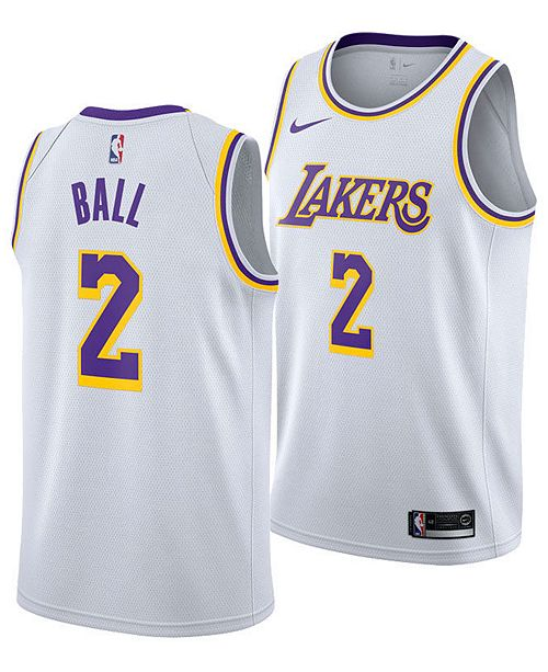 76686cbe9411 ... Nike Men s Lonzo Ball Los Angeles Lakers Association Swingman Jersey ...