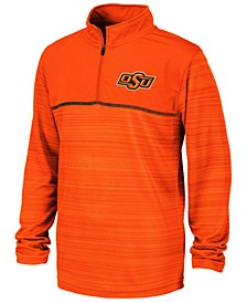 Big Boys Oklahoma State Cowboys Striped Mesh Quarter-Zip Pullover
