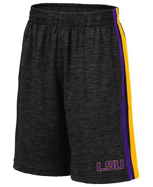 Colosseum Big Boys LSU Tigers Team Stripe Shorts