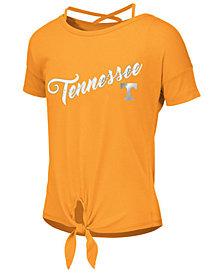 Colosseum Big Girls Tennessee Volunteers Tie Front Ballerina T-Shirt