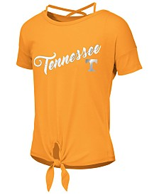 Colosseum Big Girls Tennessee Volunteers Tie Front Ballerina T-Shirt