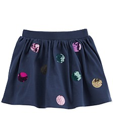 Carter's Cotton Toddler Girls Sequin Dot Scooter Skirt