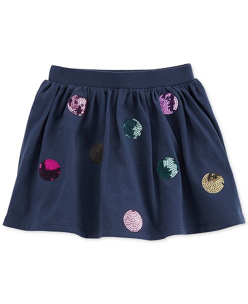 Carter's Cotton Toddler Girls Sequin Dot Scooter Skirt