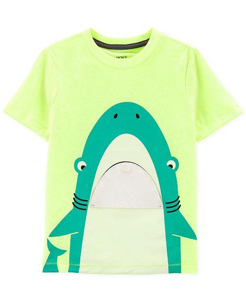 6abb14296 Carter's Toddler Boys Shark Graphic T-Shirt; Carter's Toddler Boys Shark  Graphic T- ...