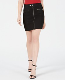 Kendall + Kylie Krissy Zippered Mini Skirt