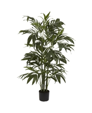 Nearly Natural 4' Bamboo Palm Faux Silk Tree