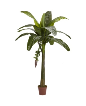 Nearly Natural 6' Banana Faux Silk Tree - Real Touch