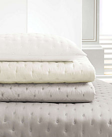 Vera Wang Luster Cloud Grey Standard Sham