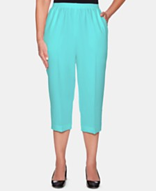 Alfred Dunner Petite Classic Poly Pull-On Capri