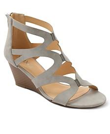 XOXO Scotland Lattice Wedge Sandals
