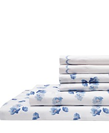 Spring Meadow Print/ Embroidered Queen Sheet Sets