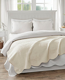 """Madison Park Tuscany Oversized 60"""" x 72"""" Quilted Scalloped-Edge Throw"""