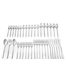 Arie Hammered 39 Piece Flatware Set, Service for 6