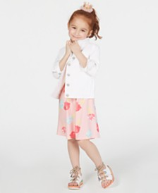 Epic Threads Little Girls Cotton Denim Jacket & Ice Cream Dress, Created for Macy's