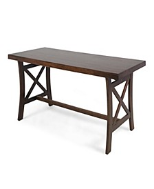 Tuomo Traditional Acacia Wood Desk, Quick Ship