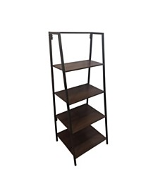 Euclid Industrial 4-Tier A-Frame Bookshelf, Quick Ship