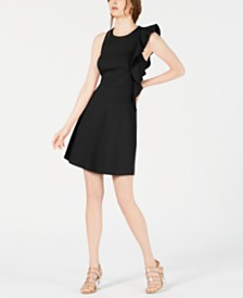 Bar III Asymmetrical Fit & Flare Dress, Created for Macy's