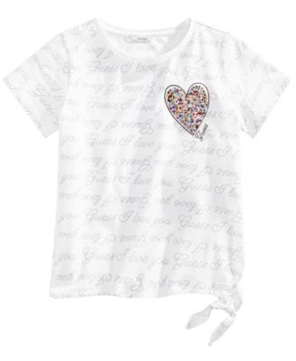 Big Girls Printed Tie-Detail T-Shirt