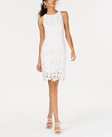 Bar III Sleeveless Lace Sheath Dress, Created for Macy's