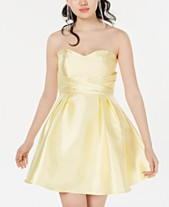 059633addb1 Teeze Me Juniors  Strapless Sweetheart Fit   Flare Dress