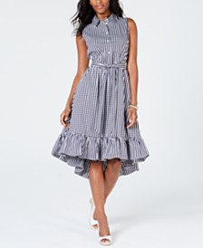 Charter Club Gingham Ruffled-Hem Dress, Created for Macy's