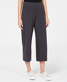 Eileen Fisher Wide-Leg Cropped Pants, Regular & Petite