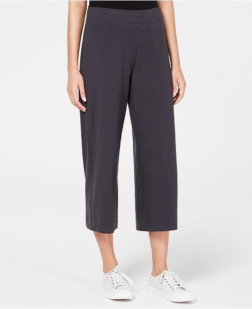 Eileen Fisher Wide-Leg Cropped Pants, Regular & Petite