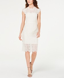 Rachel Zoe Open Back Cap-Sleeve Lace Dress