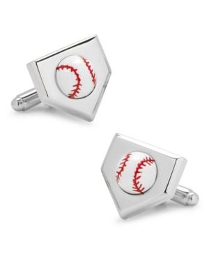 3D Baseball Home Plate Cufflinks