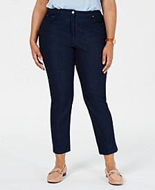 Plus Size Smooth Sailing Cropped Skinny Jeans
