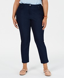 Alfred Dunner Plus Size Smooth Sailing Cropped Skinny Jeans