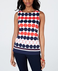 Charter Club Printed Tank Top, Created for Macy's