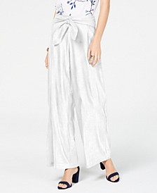 INC Wide-Leg Paper Bag Tie Waist Pants, Created for Macy's