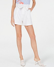 INC Paper Bag Shorts, Created for Macy's