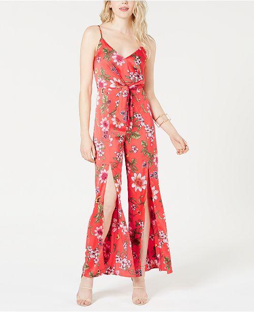 GUESS Isora Floral-Print Split-Leg Jumpsuit