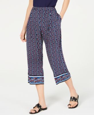 Mosaic Printed Capri Pants, Regular & Petite Sizes